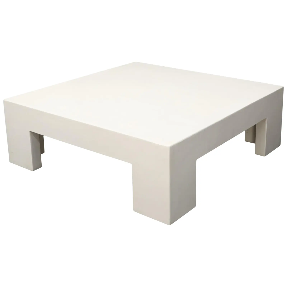 Robert Kuo Large Square White Enamel Lacquer Coffee Table Large Square Coffee Table Coffee Table Coffee Table Square [ 1000 x 1000 Pixel ]