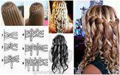 DIY Waterfall Braid Hairstyle Tutorials Video #Braidedhairstyles