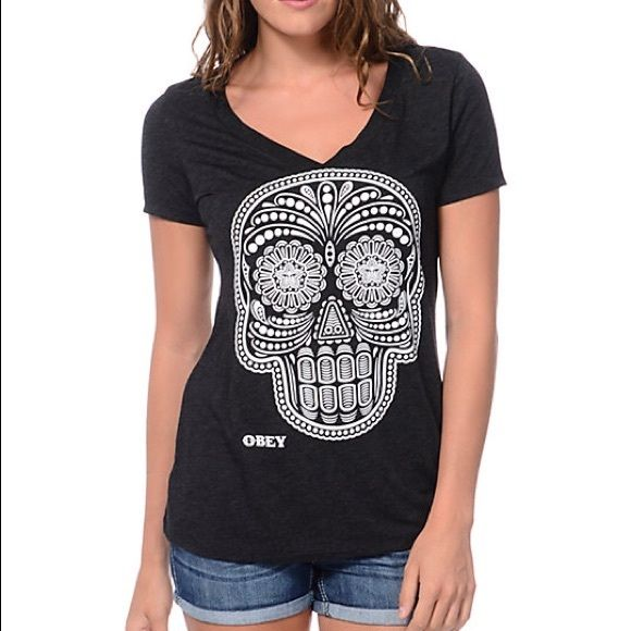 Obey Skull T-shirt Obey Skull T-shirt. Don't forget to check out the rest of my closet I give discounts on bundles! Obey Tops Tees - Short Sleeve