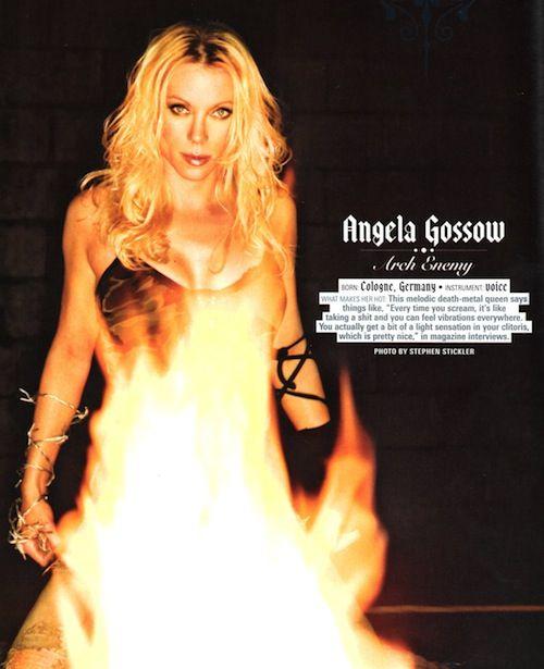 Angela gossow naked pics
