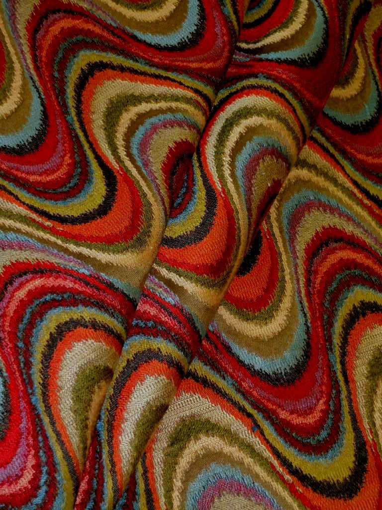 Pattern Cadence Color Multi Modern Contemporary Chevron Flame Stitch