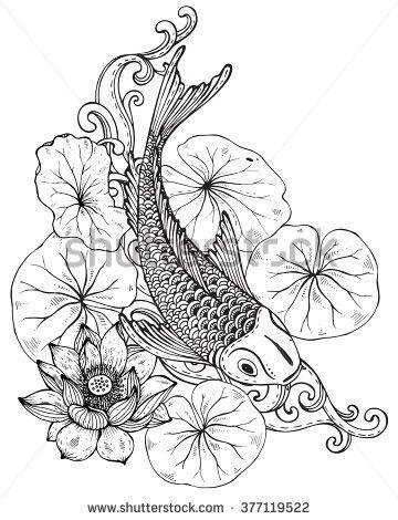 koi carp line drawings - Google-haku | Koi | Pinterest | Pez koi ...