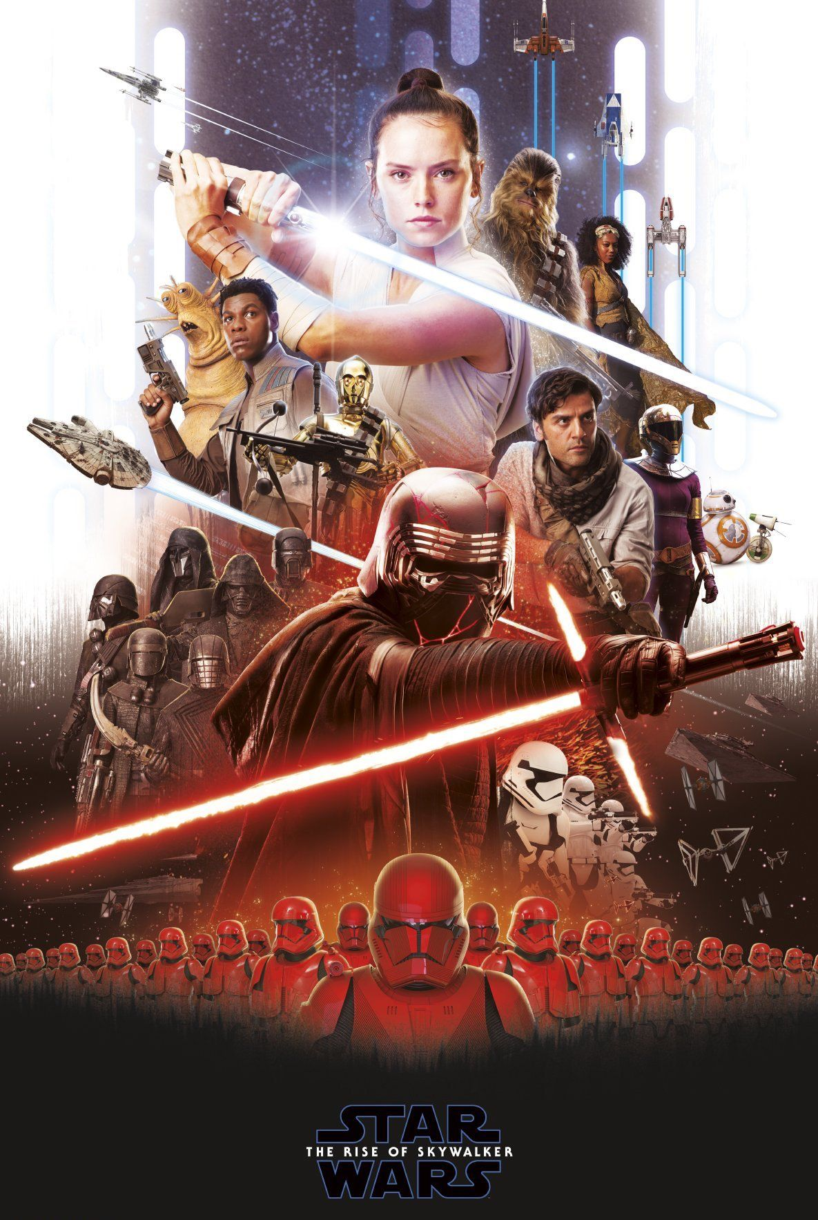 STAR WARS THE FORCE AWAKENS RED MOVIE POSTER FILM A4 A3 ART PRINT CINEMA