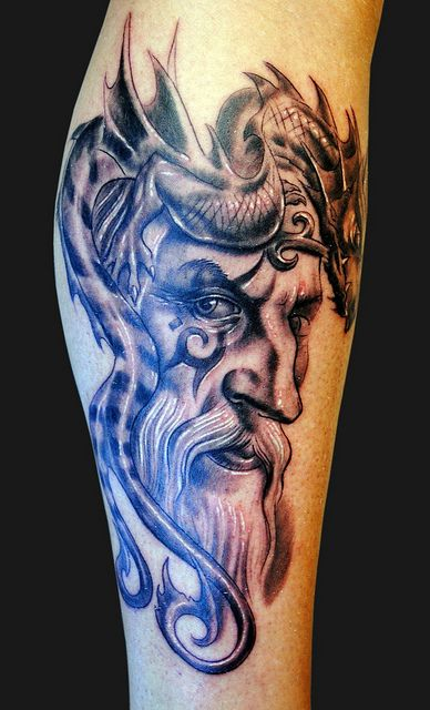 Wizard and dragon tattoo | future tattoos | Wizard tattoo, Tattoos ...