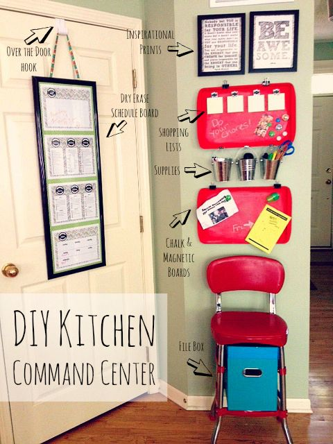 DIY Kitchen Family Command Center + Free Printable Chore Charts, Meal  Planner, Calendar, Etc.