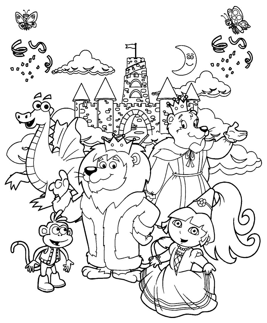 Childrens online colouring book - Sock Monkey Coloring Pages Printable Coloring Pages To Print Dora The Explorer