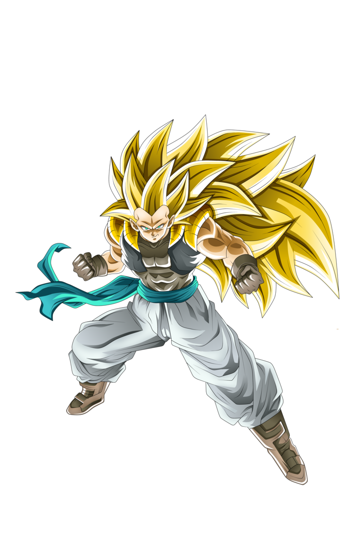 Gotenks Super Saiyan 3 Dokkan by rmehedi