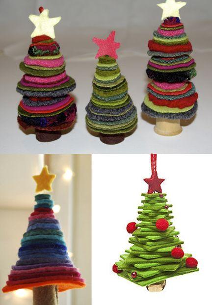 Wool Felt Christmas Ornaments