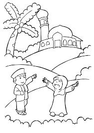 Hasil Gambar Untuk Sketsa Orang Wudhu Halaman Mewarnai