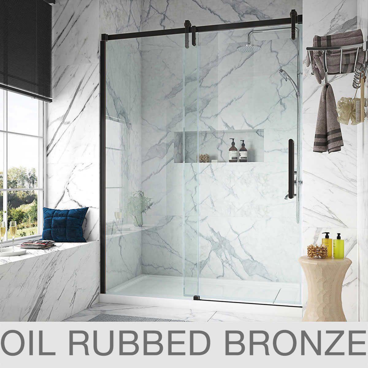 Ove Decors Sheffield 60 Tempered Glass Shower Door In 2020 Glass Shower Doors Tempered Glass Shower Doors Shower Doors