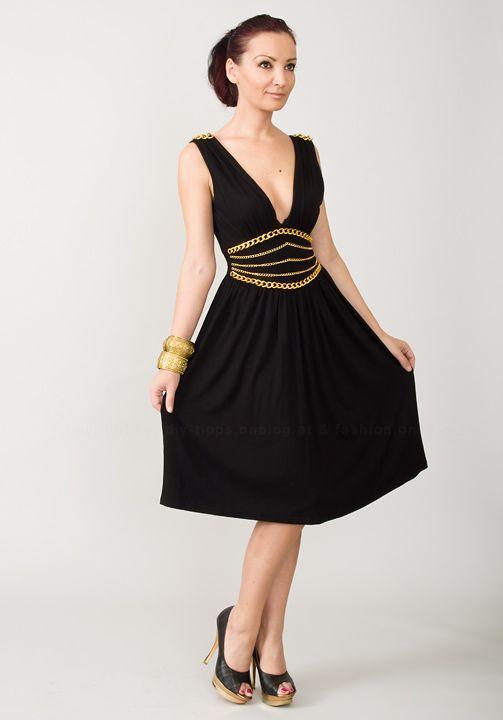 eff163692876f6 DIY Advent 24: Kleid mit Ketten aufpeppen | Silvesterknaller ...