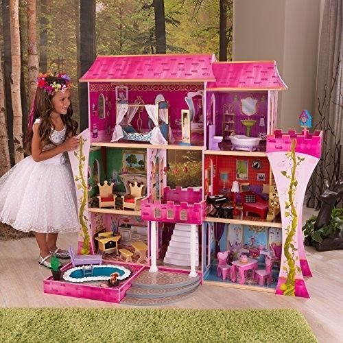 Kidkraft Princess Dollhouse Wooden Doll House Barbie Size