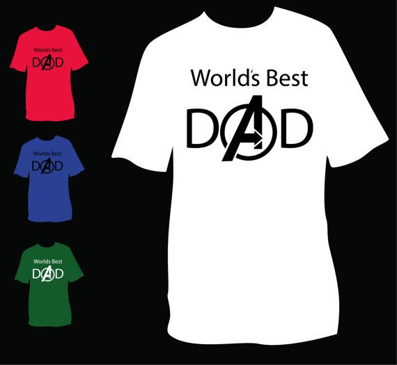 71b4dae0 Fathers Day Gift Avengers World's Best Dad Father's Day t-shirt $25.00.  Order by 6/9 for Father's Day delivery.