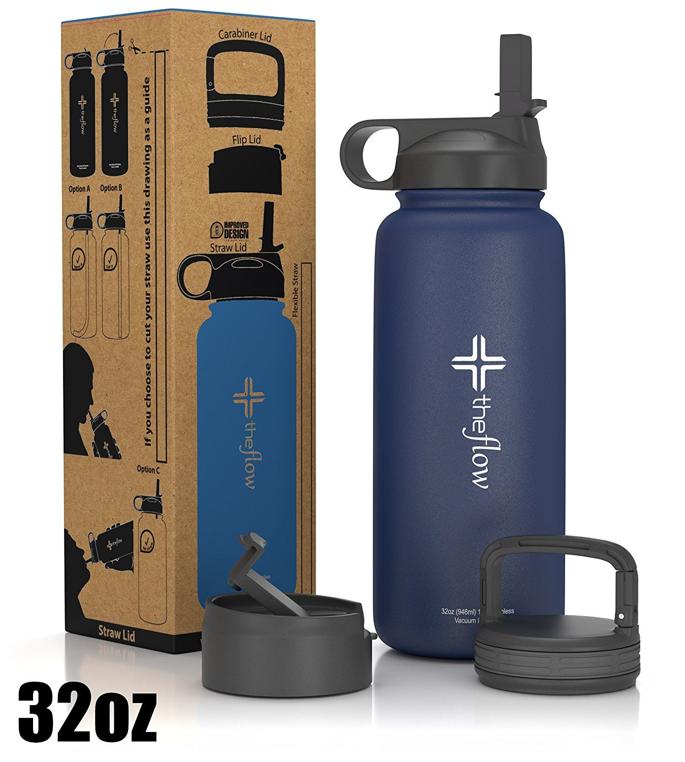 the flow Stainless Steel Water Bottle Double Walled/Vacuum