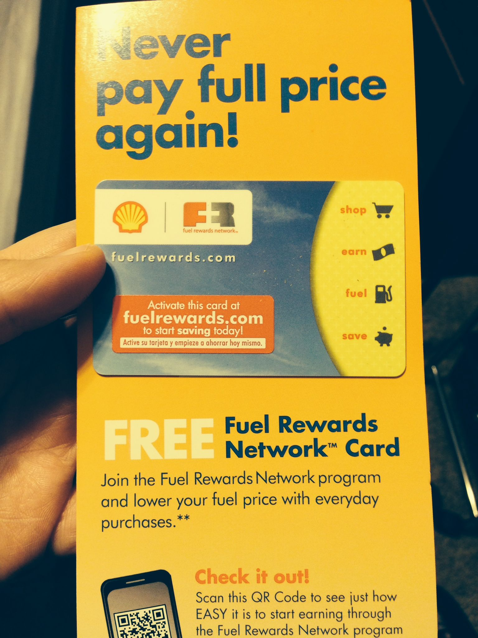 shellfuelrewards shell fuel rewards card its free to join influenster - How To Use Shell Fuel Rewards Card