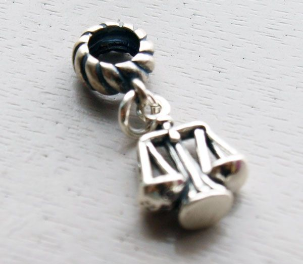 Scales Of Justice Dangle Charm Bead