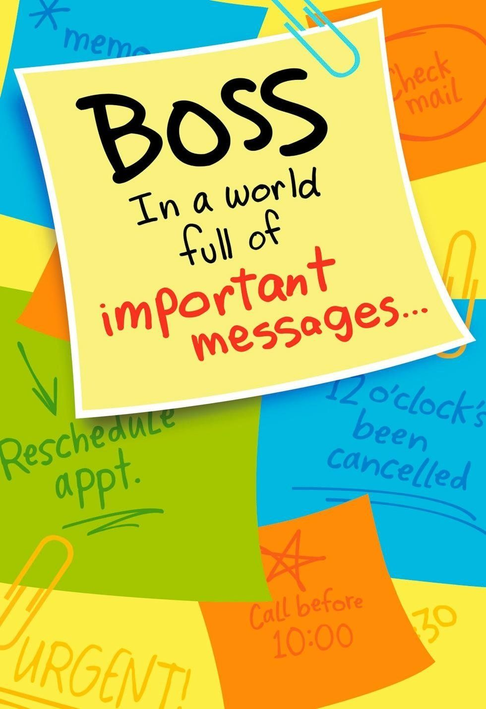 National Boss Day Greetings National Boss Day Pinterest