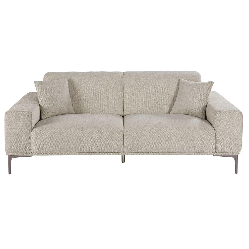 23 Sitzer Sofa Aus Hellgrauem Meliertem Stoff Jetzt Bestellen Unter
