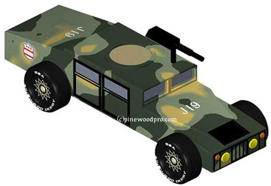 pinewood derby car designs | Pinewood Derby Car Design - Army ...