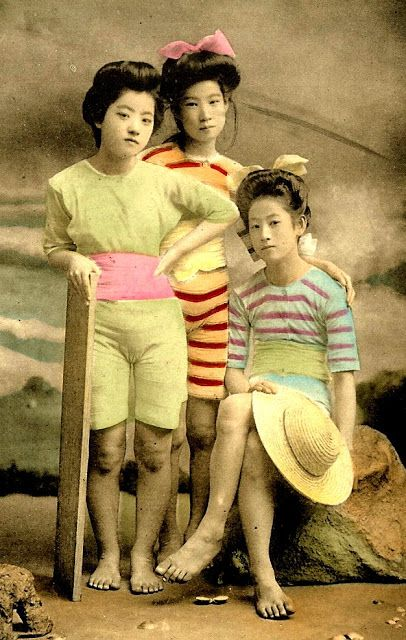 Geisha girls of Japan circa 1900's