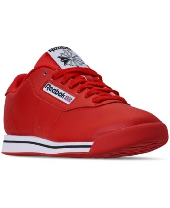 d3007789893 Reebok Women s Princess Casual Sneakers from Finish Line - RED WHITE BLACK