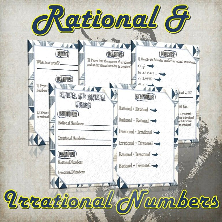 Rational and Irrational Numbers (Guided Notes, Proofs