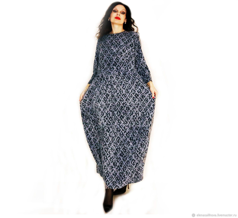 c50c5c9366e Платье из теплого трикотажа в стиле бохо – купить в интернет-магазине на Ярмарке  Мастеров