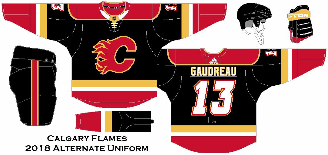 2018 Nhl Alternate Uniform Concepts Calgary Flames Calgary Flames Custom Jerseys Hockey Jersey