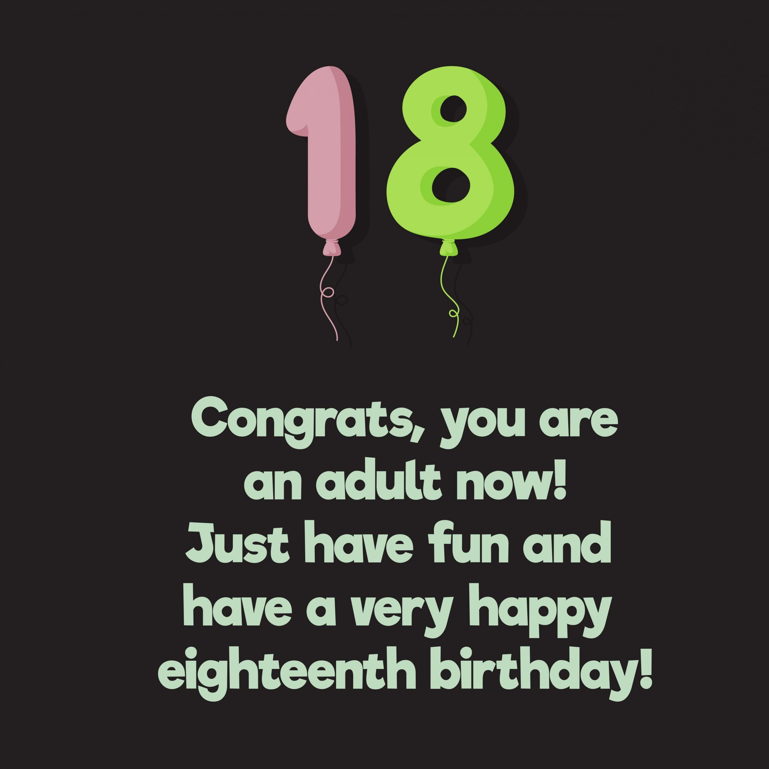 11 Awesome 18th Birthday Wishes In 2021 Happy 18th Birthday Quotes Happy Birthday Wishes Quotes Friend Birthday Quotes