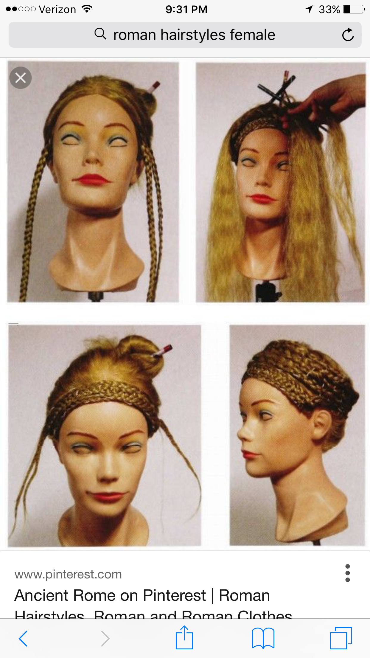 Pin By J Still On Hair Vintage Hairstyles For Long Hair Roman Hairstyles Hair Styles