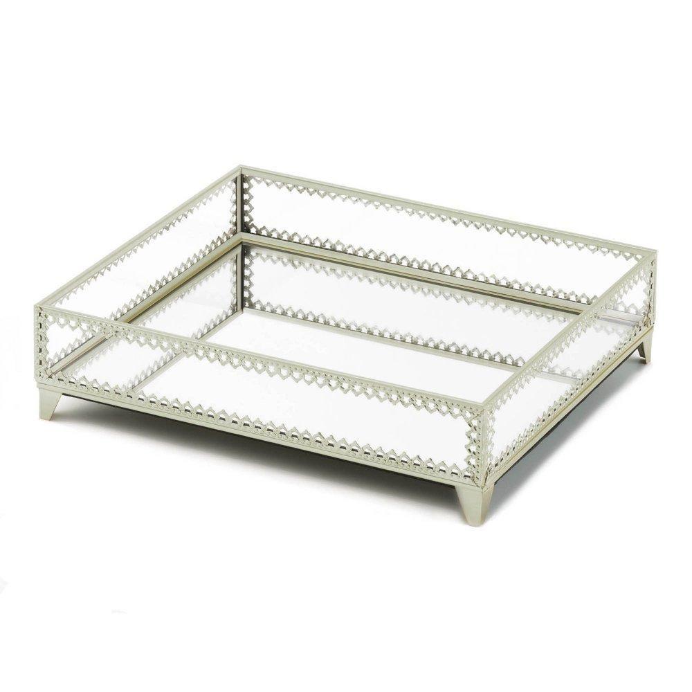 Silver Trim Glass Tray - Silver Trim Glass Tray