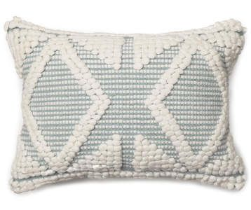 Best Andy Macrame White Throw Pillow Blue Throw Pillows 400 x 300