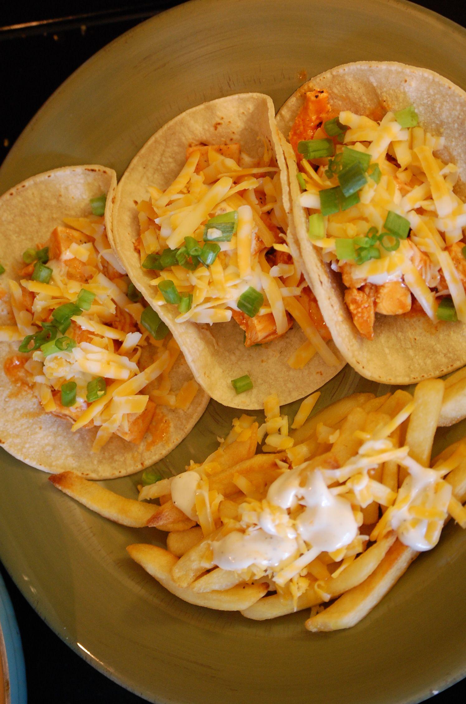 Buffalo Chicken Tacos Delish