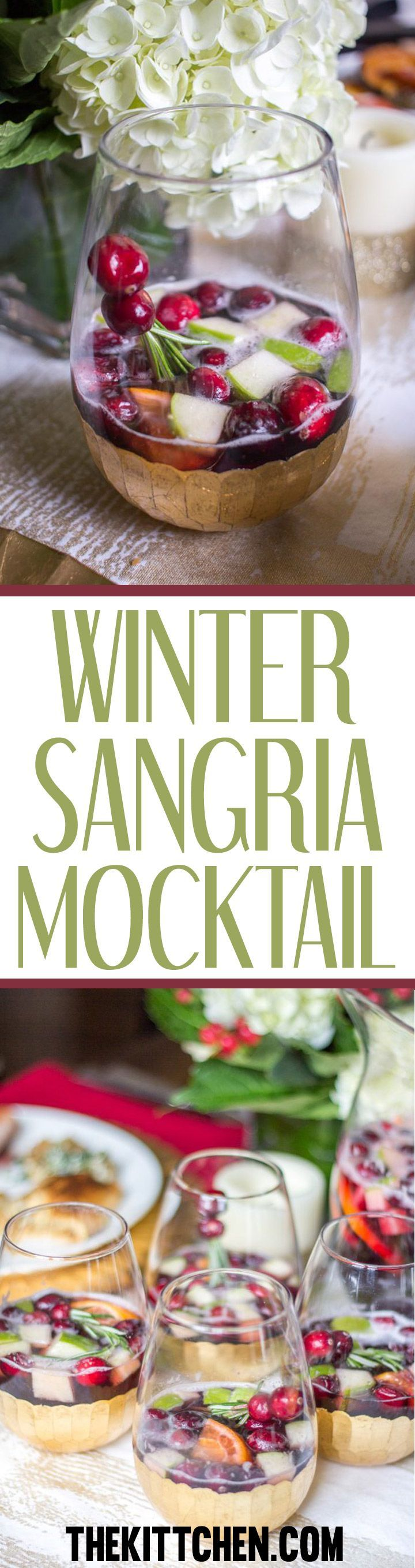 Need a drink to entertain that doesn't have alcohol? Try this fancy winter sangria mocktail that is both festive and tasty. Click to find the very easy recipe! #mocktail #sangria *************************** Mocktail recipes | Mocktail recipes non alcoholic winter | Sangria recipes | Sangria recipes non alcoholic | Winter drinks | Winter drinks non alcoholic