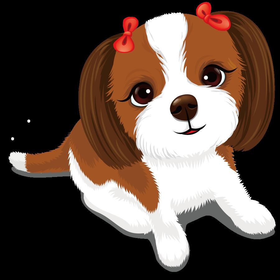 Для любимой, картинка веселого щенка для детей