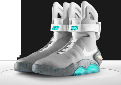 Limited edition Nike - Air Mag (Back To The Future) Only 1500 made. Most  were sold for around  4000 on eBay to raise funds for the Michael J Fox  Foundation. aee8e2fb7