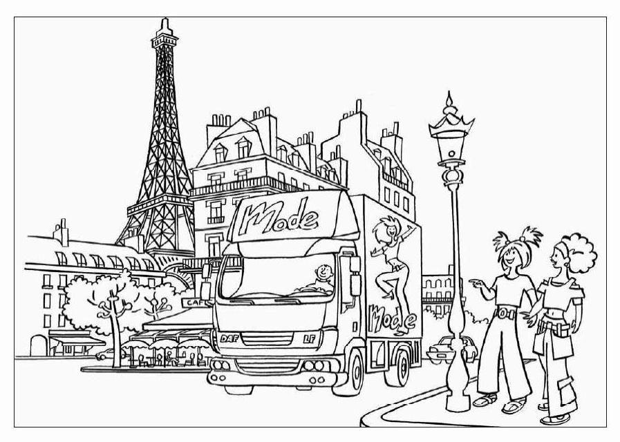 Famous Places Coloring Pages Paris Coloring Pages Coloring Pages For Kids