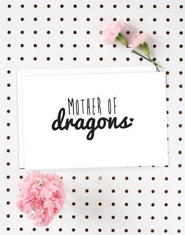 4-Pack of Flat Notecards - Stationery With Envelopes - Mother Of Dragons