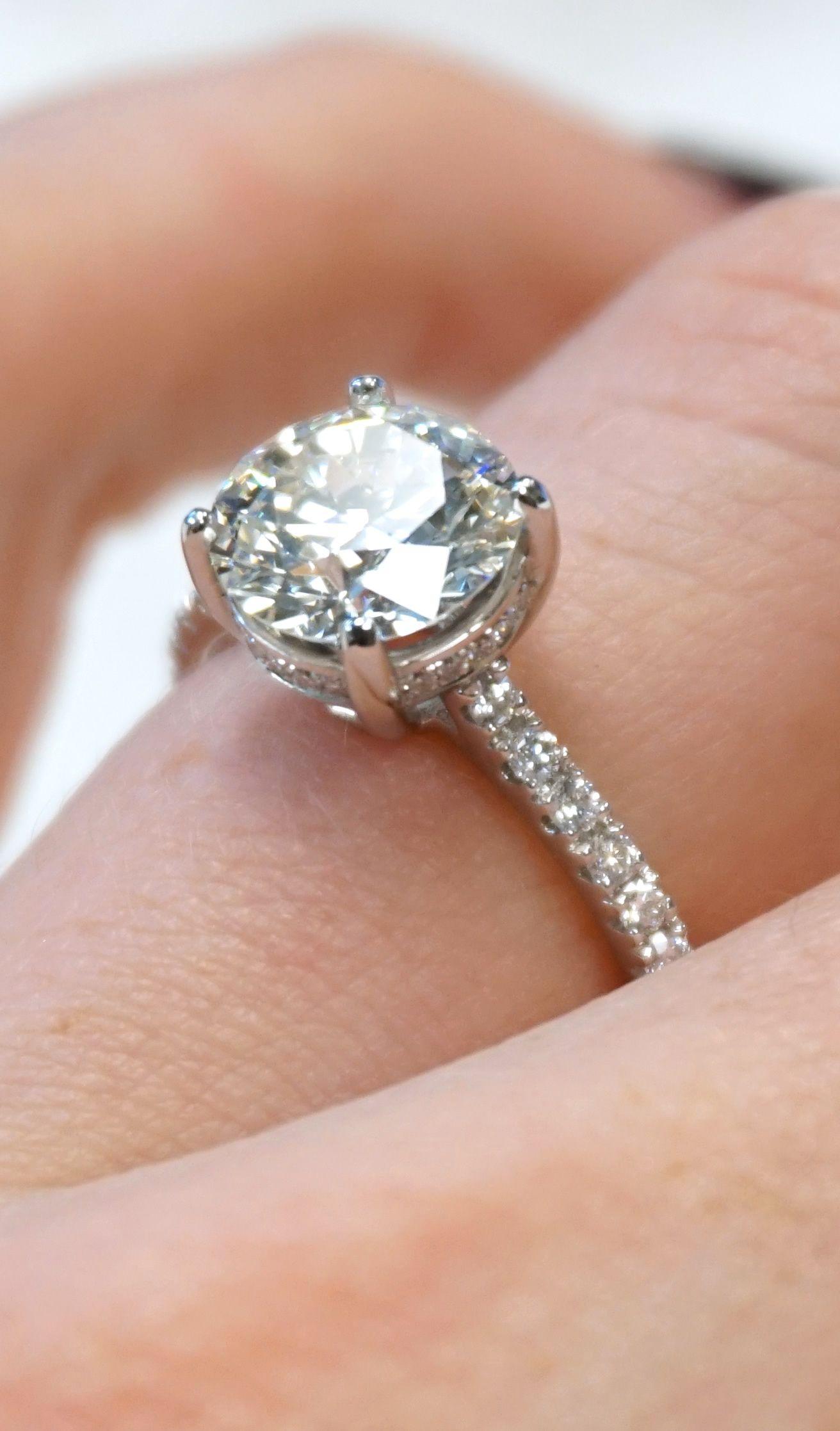 2 carat custom diamond engagement ring. browse 1000+ unique styles