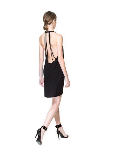 DRESS WITH STRAPS AT THE BACK - Dresses - Woman - New collection | ZARA United States