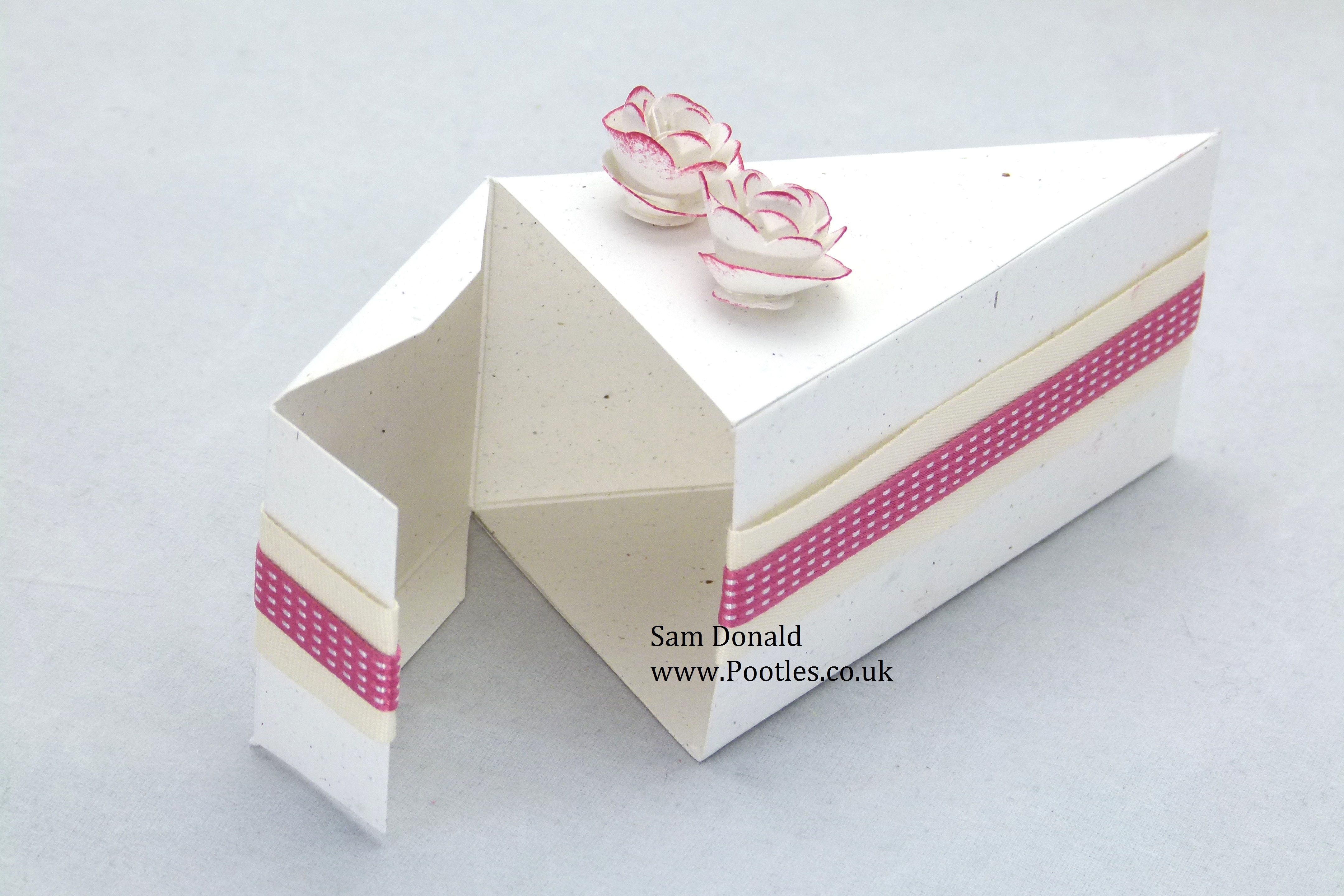 Stampin Up Cake Slice Box Video Cajas De Regalo Cajas Cajas Para Regalar