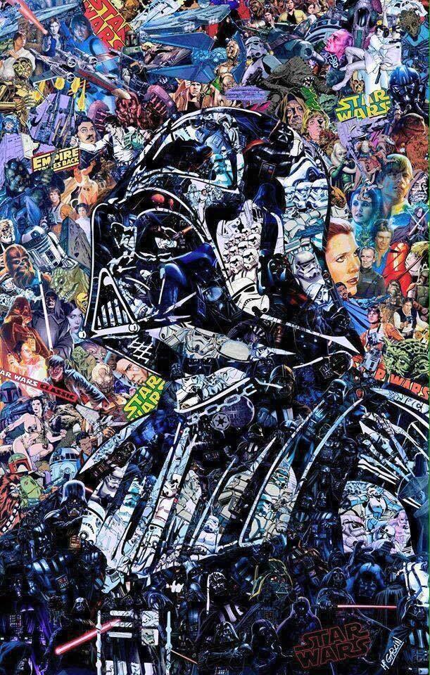 Darth Vader collage | Star Wars | Pinterest | Darth vader, Galaxias ...