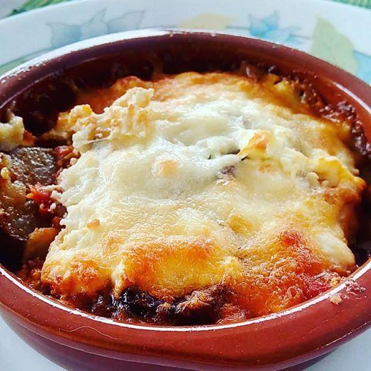 #Melitzanes_Saganaki (baked eggplants with cheese) and a visit to #Argos…