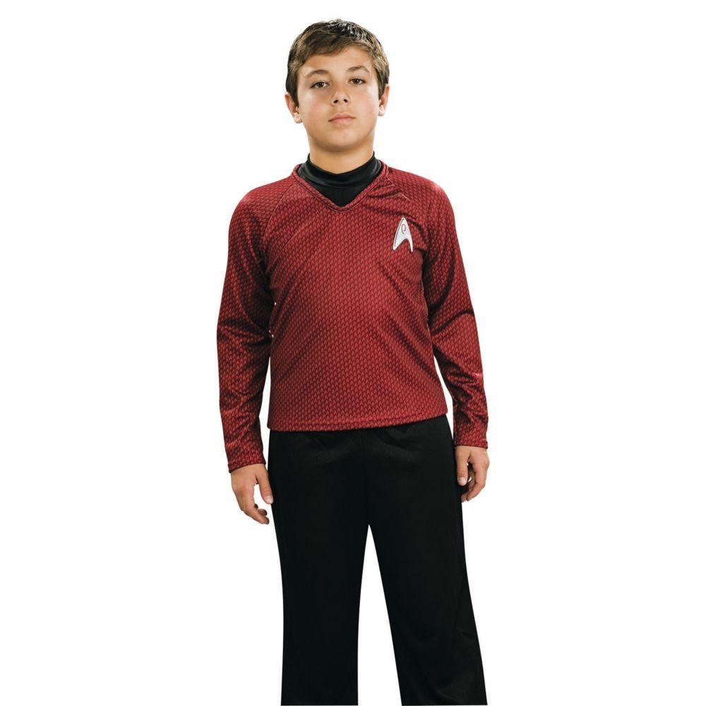 Deluxe Red Star Trek Uniform Boys Halloween Costume - Small | Boys ...