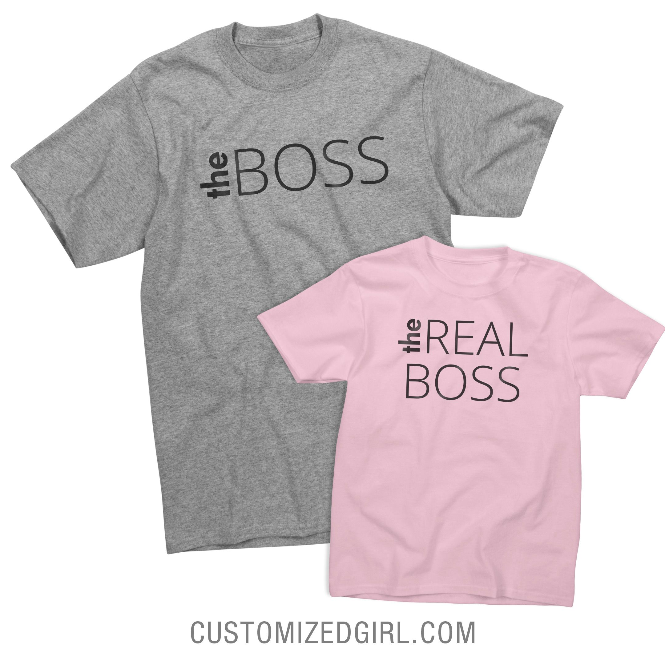 Shirt design couple shirts printing statement shirts - Shop And Customize These Daughter Dad Boss Matching Designs Find The Perfect Daughter Dad Boss Matching Gift