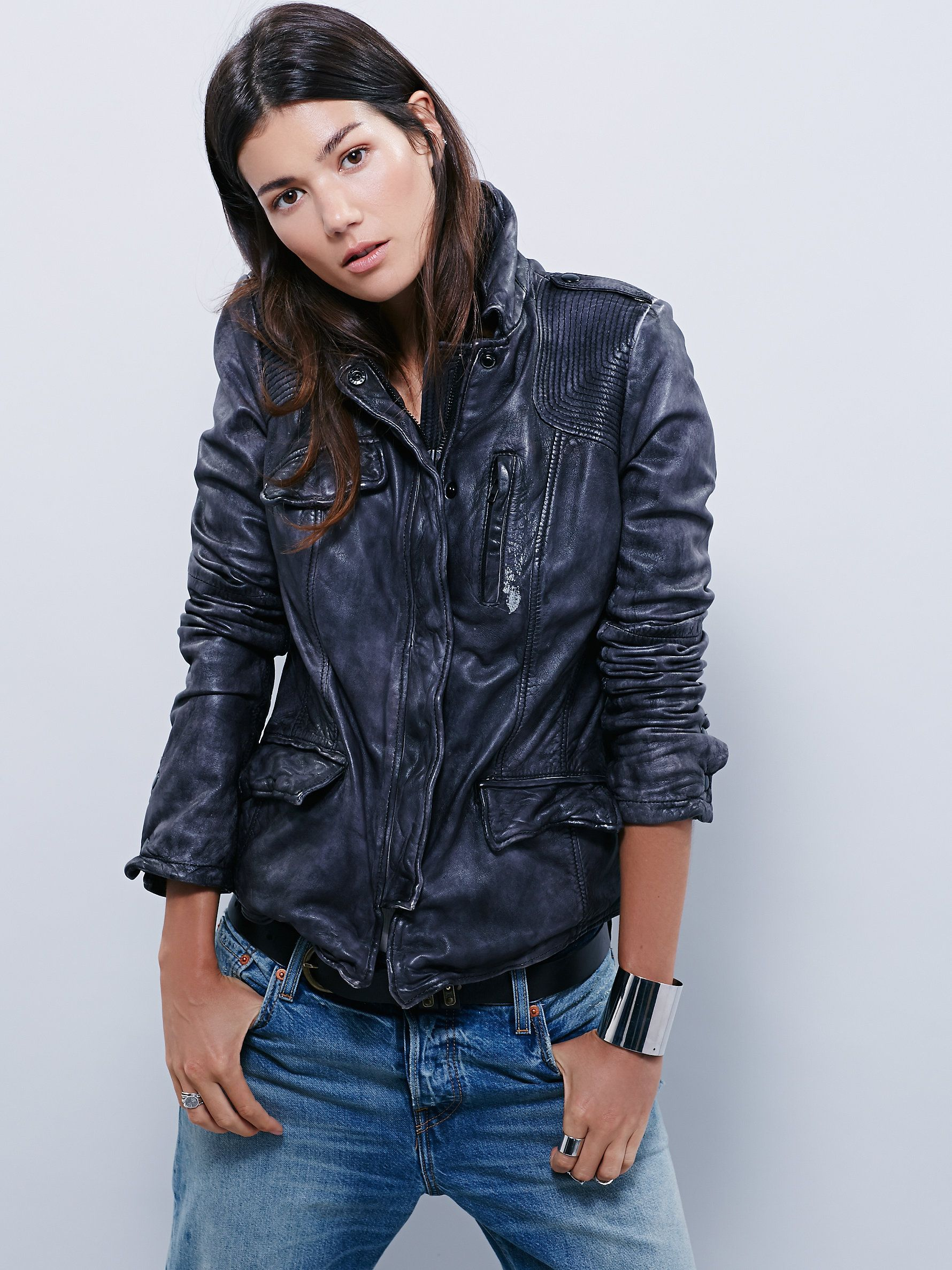 Rumpled Leather Blazer Leather Jacket With Hood Distressed Leather Jacket Leather Blazer