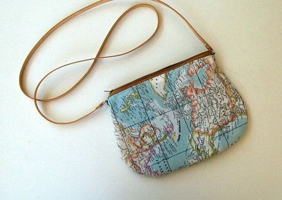 A Small World Map Purse By Skyturtle On Etsy I Love This Wish