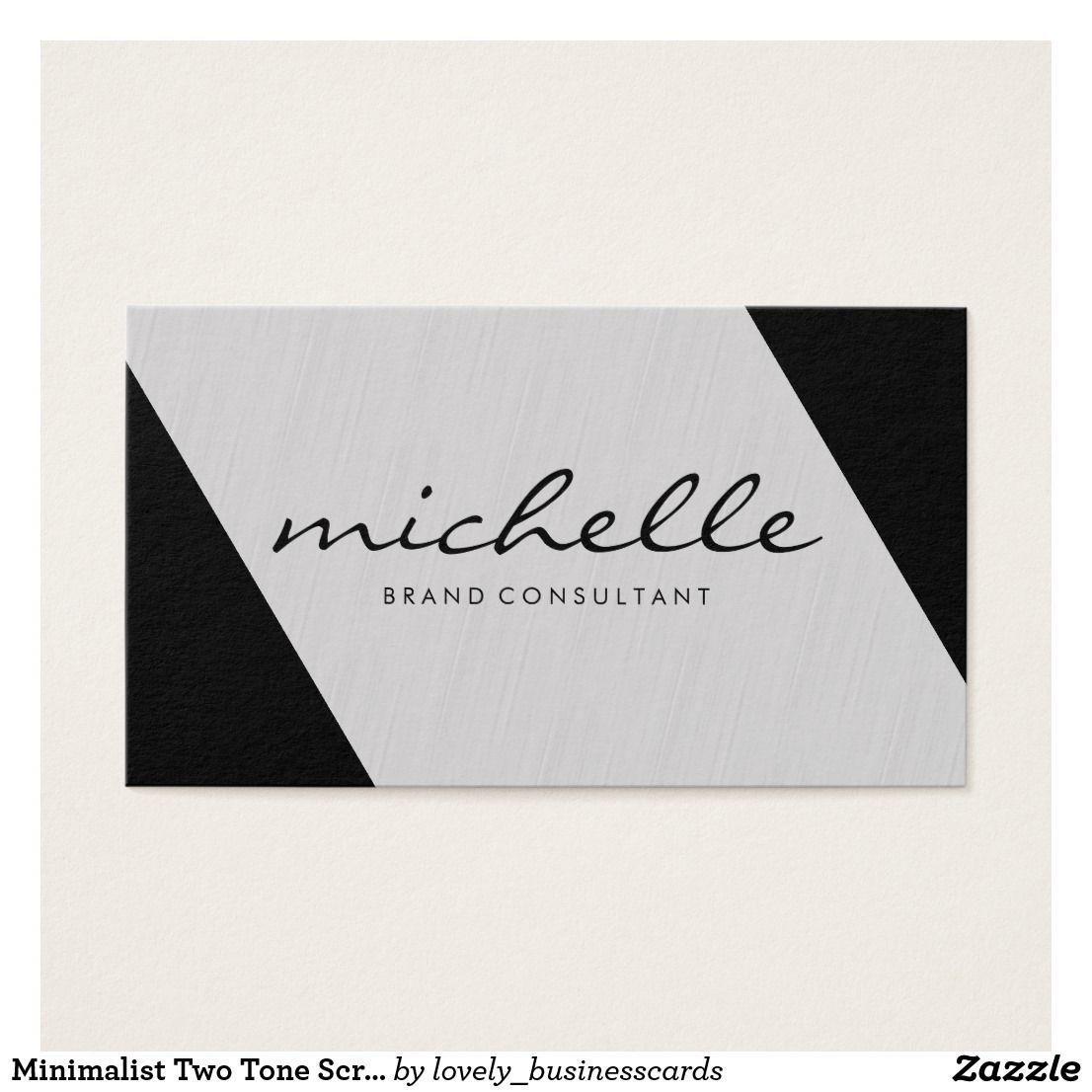 Minimalist Two Tone Script Font Business Card | Zazzle com