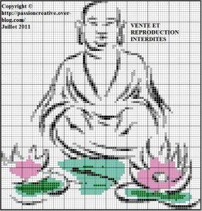 Grille point de croix zen gratuite broderies zen pinterest bouddha zen et grille point de - D m c broderie grilles gratuites ...
