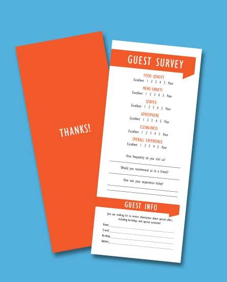 Customer Comment Cards - It is crucial you understand what your ...